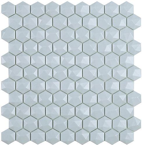Matt Light Blue Hex Hexagon 3d Vidrepur mozaïek tegels