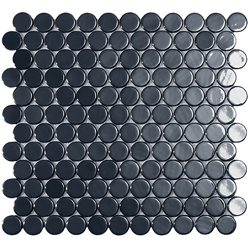 Circle Black Br glasmozaïek 25CX25CMM tegels