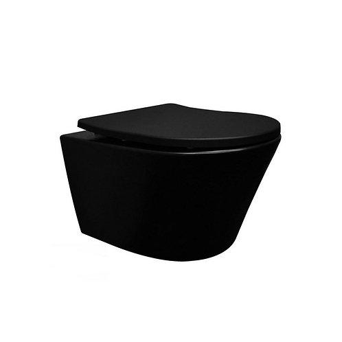Steva wc mat zwart 52 cm.