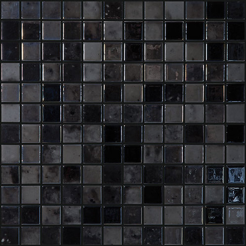 Lux Anthracite glasmozaïek 25X25MM tegels