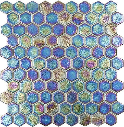 Shell Deep hexagon glasmozaïek 35X35MM tegels