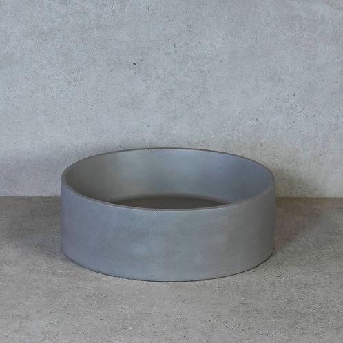 Waskom betongrijs 37x12 cm. beton