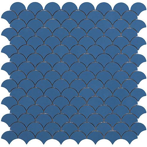Matt Blue Vidrepur visschub mozaïek tegels
