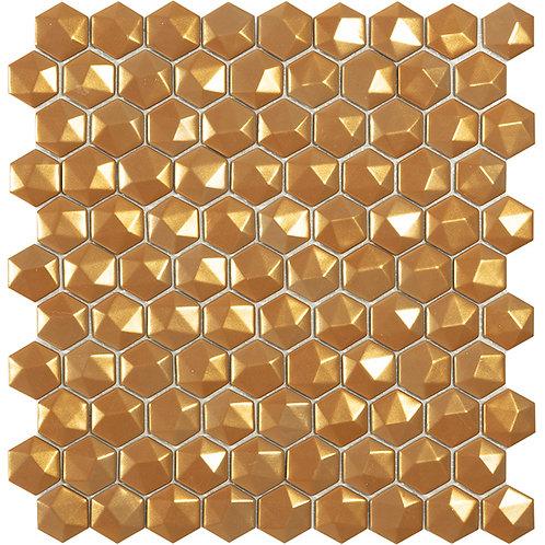 Magic Gold 3D hexagon glasmozaïek 35X35MM tegels