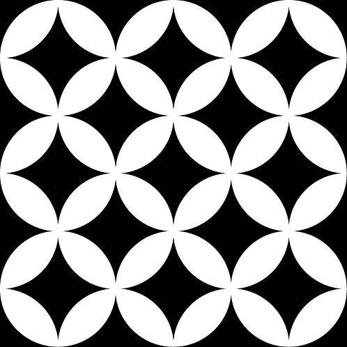 District circles black 20x20 (prijs per m²)