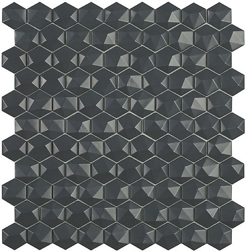 Matt Dark Grey Hexagon 3d Vidrepur mozaïek tegels