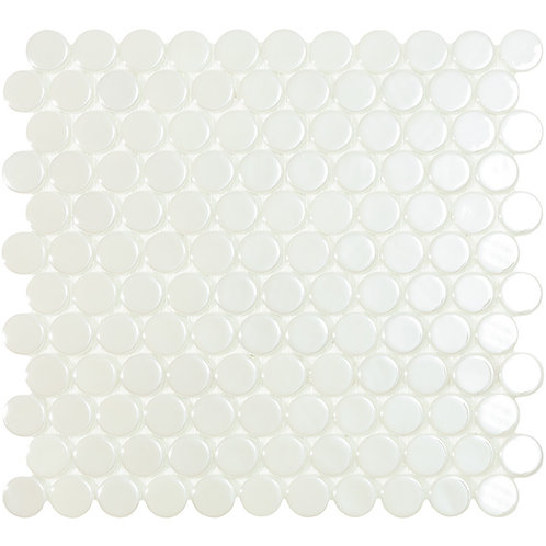 Circle White Br glasmozaïek 25CX25CMM tegels