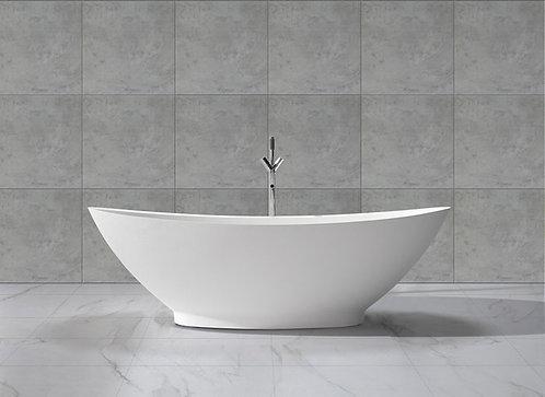 Solid Surface 4000 mat wit vrijstaand bad in formaat 186 x 82 x 59 cm.