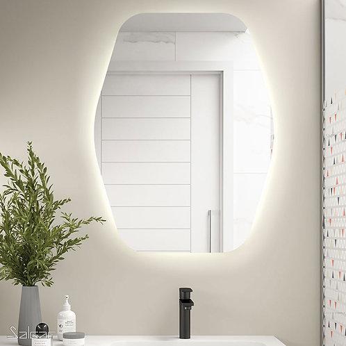 Organic spiegel 80x100 cm. met indirecte verlichting