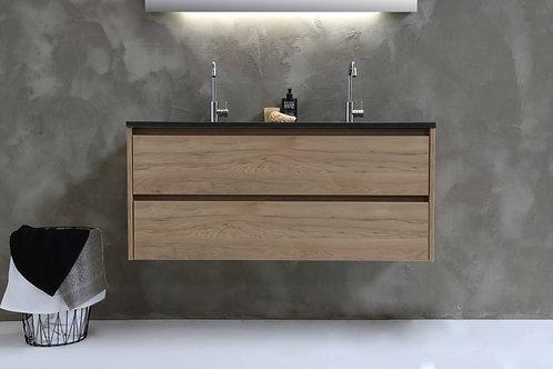 Proline wastafel hardsteen Elegant met onderkast symmetrisch ideal oak 120 cm
