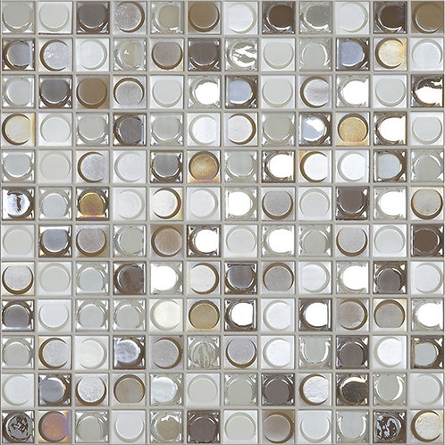 Aura Nude Blend glasmozaïek 25X25MM tegels