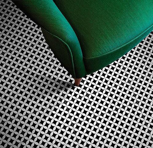 Patroon tegels 20x20 cirkels zwart wandtegels / vloertegels
