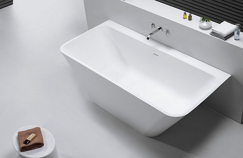 Solid Surface 5000 mat wit semi-vrijstaand bad 179 x84.5 x 57.5 cm.