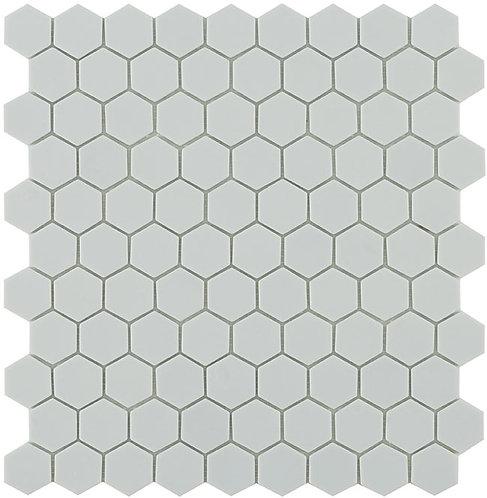 Matt Light Grey Hexagon Vidrepur mozaïek tegels