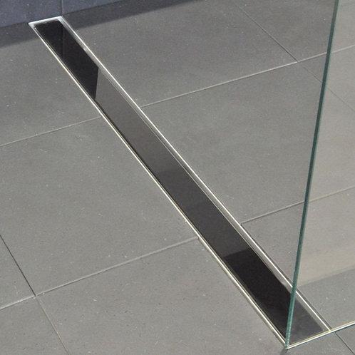 Douchegoot 70 cm RVS met zwart glasrooster