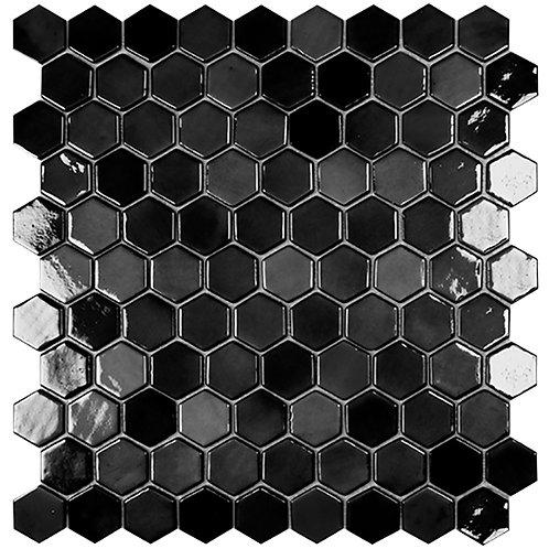 Lux Antrhacite hexagon glasmozaïek 35X35MM tegels