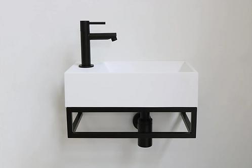 INK fontein contra met zwart stalen frame (40x22x10)
