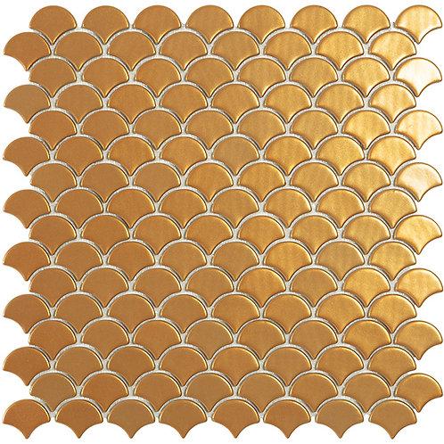 Magic Gold Visschub glasmozaïek 36X29MM tegels