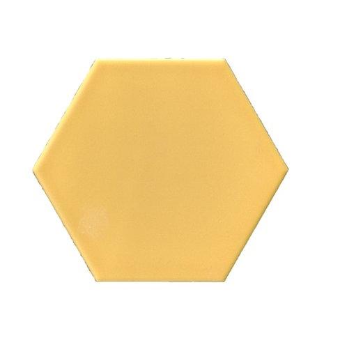 Hexagon mat geel 15x17 vloertegels/wandtegels