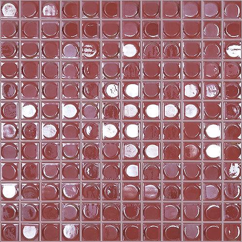 Aura Soft Red glasmozaïek 25X25MM tegels