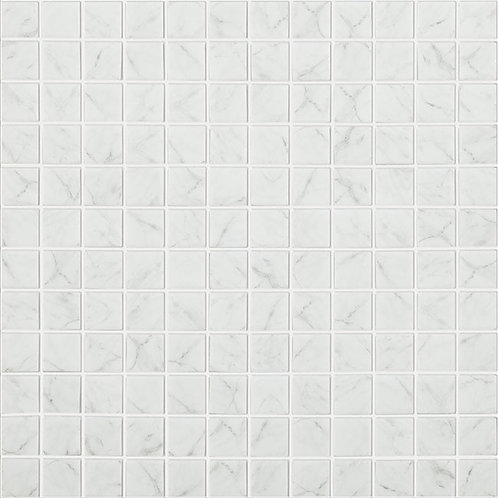Carrara Grey Matt marmer glasmozaïek 25X25MM tegels