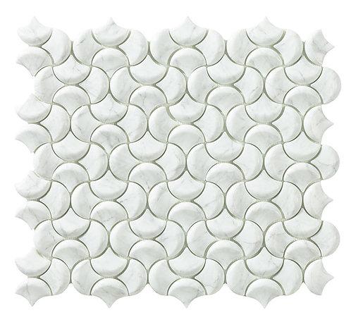 Marbles Hestia Ornamental visschub glasmozaïek 36X29MM tegels