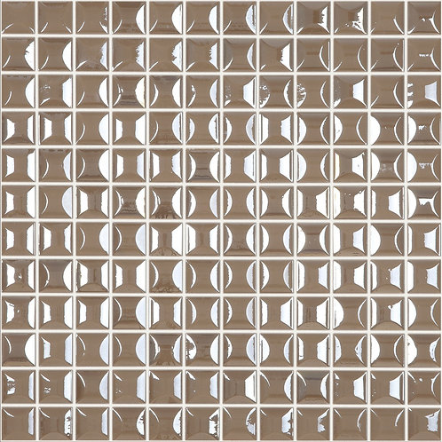Edna Coffee glasmozaïek 25X25MM tegels
