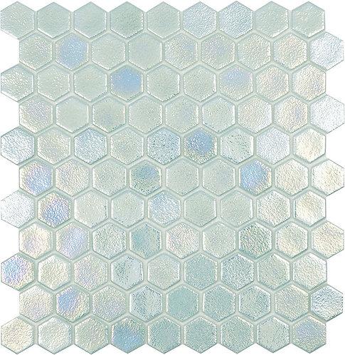 Shell Crystal hexagon glasmozaïek 35X35MM tegels