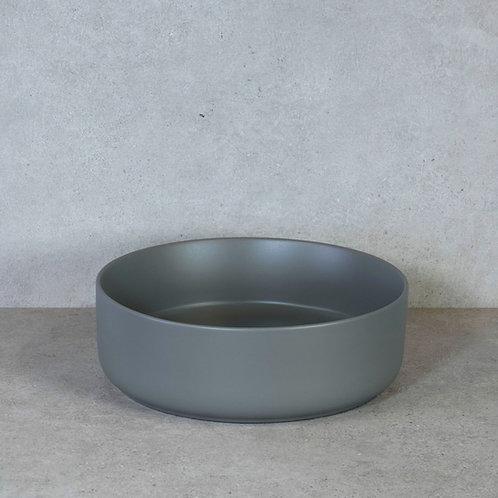 Waskom mat grijs 37x12 cm. keramiek