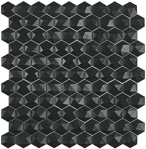 Matt Black Hexagon 3d mozaiek Vidrepur mozaïek tegels