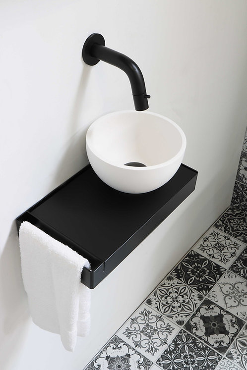INK fontein jazz xs wit met matzwart inlegplateau en frame
