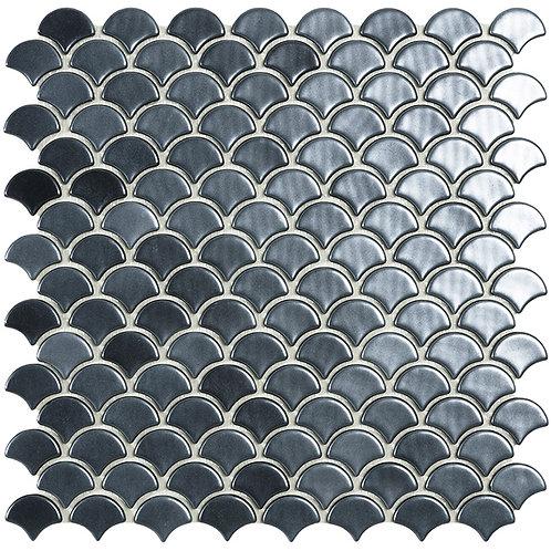 Magic Black Visschub glasmozaïek 36X29MM tegels