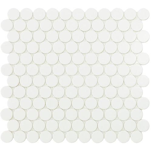 Circle White Mat glasmozaïek 25CX25CMM tegels