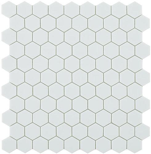 Matt White Hex Hexagon Vidrepur mozaïek tegels