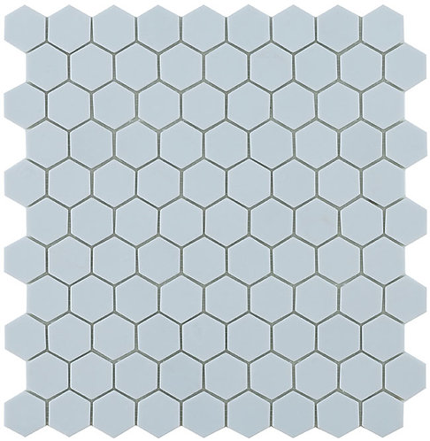 Matt Light Blue Hex Hexagon Vidrepur glasmozaïek tegels