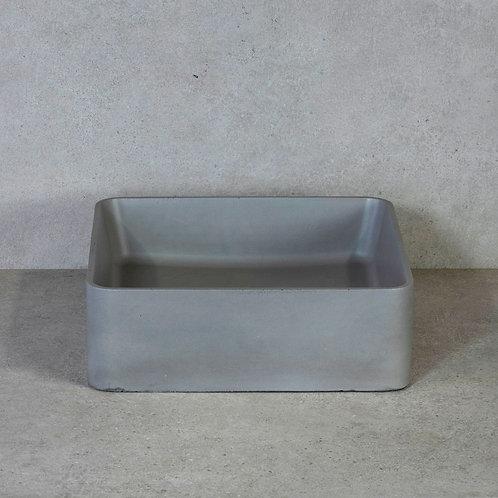 Waskom beton grijs 36x36x12 cm. beton