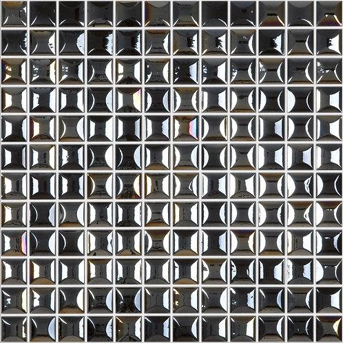Edna Black glasmozaïek 25X25MM tegels