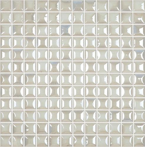 Edna White glasmozaïek 25X25MM tegels