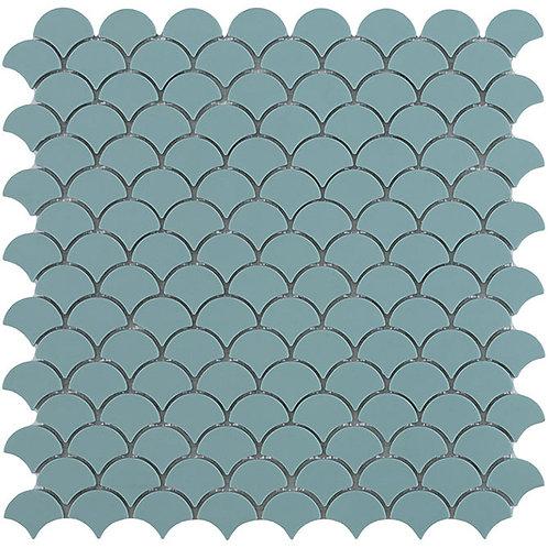 Matt Turquoise Vidrepur visschub glasmozaïek tegels