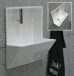 Niet al te grote wc? Dit is een ruimte besparende fontein voor in de toilet.