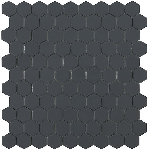 Matt Dark Grey Hex Hexagon Vidrepur mozaïek tegels