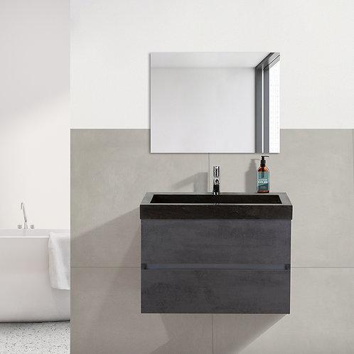 Badmeubel met hardsteen wastafel - beton antraciet - 4 breedtematen
