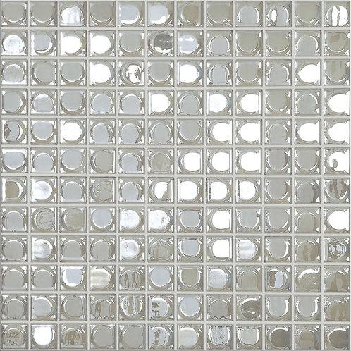 Aura White glasmozaïek 25X25MM tegels