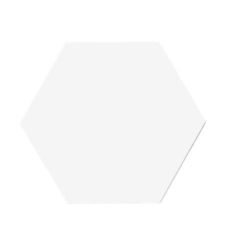 Hexagon mat wit 15x17 tegels (prijs per m²)