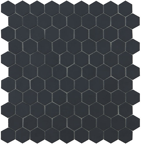 Matt Black Hexagon Vidrepur mozaïek tegels