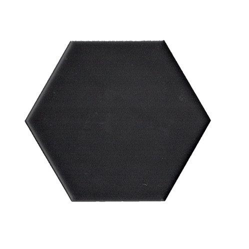 Hexagon mat zwart 15x17 tegels (prijs per m²)