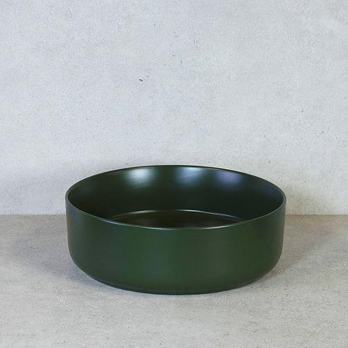 Waskom olijf groen mat 37x12 cm. keramiek