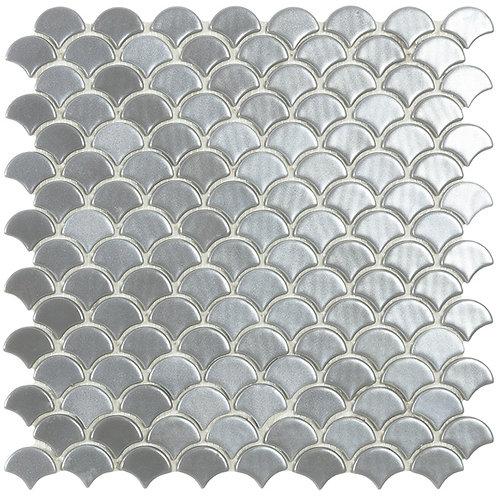 Magic Silver Visschub glasmozaïek 36X29MM tegels