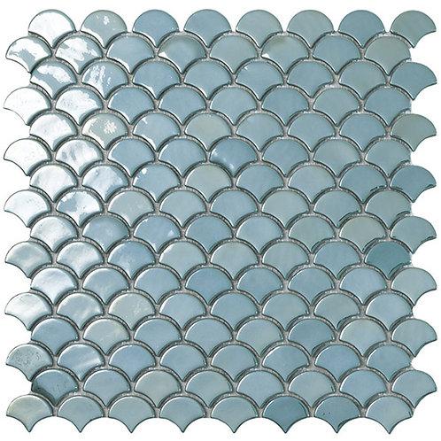 BR Turquoise Vidrepur visschub glasmozaïek tegels