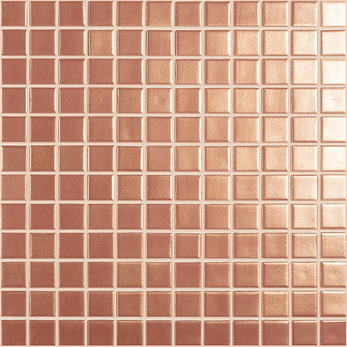 Magic Copper glasmozaïek 25X25MM tegels